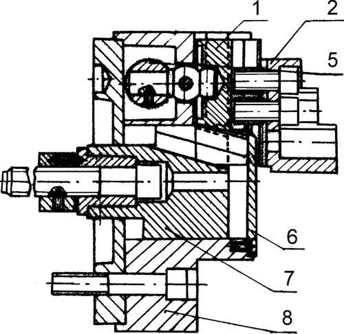 Патрон токарный с компесацией центробежных сил